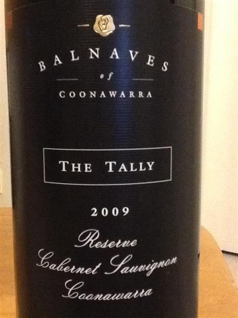 巴内夫泰利珍藏赤霞珠干红Balnaves of Coonawarra The Tally Reserve Cabernet Sauvignon