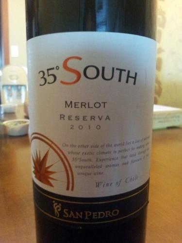 圣派德罗南纬35度珍藏梅洛干红Vina San Pedro 35° South Reserva Merlot