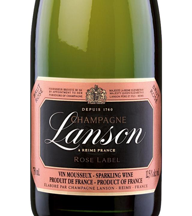 岚颂桃红香槟Champagne Lanson Rose Label