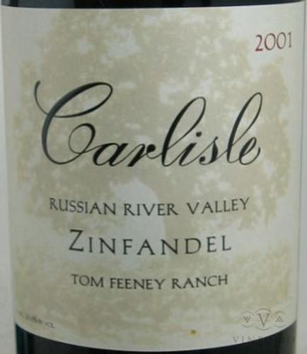 卡尔丽丝芬尼牧场仙粉黛干红Carlisle Tom Feeney Ranch Zinfandel