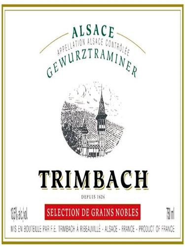 婷芭克世家琼瑶浆粒选贵腐甜白F.E. Trimbach Gewurztraminer Selection de Grains Nobles