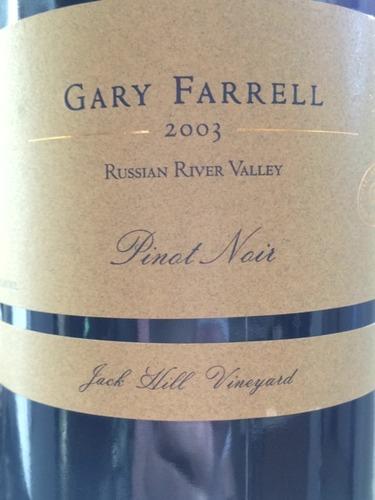法雷尔杰克山庄园黑皮诺干红Gary Farrell Jack Hill Vineyard Pinot Noir