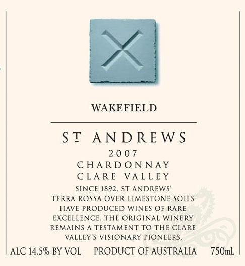 泰来斯珍藏霞多丽干白Taylors St.Andrews Chardonnay