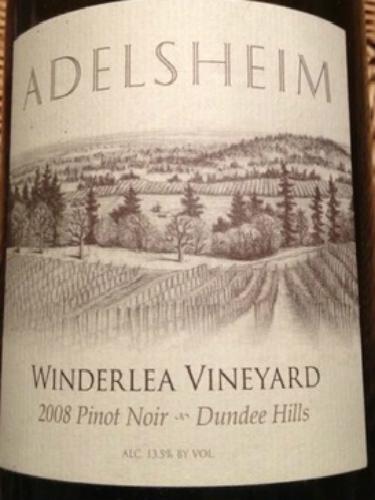 爱德森文德礼园黑皮诺干红Adelsheim Winderlea Vineyard Pinot Noir