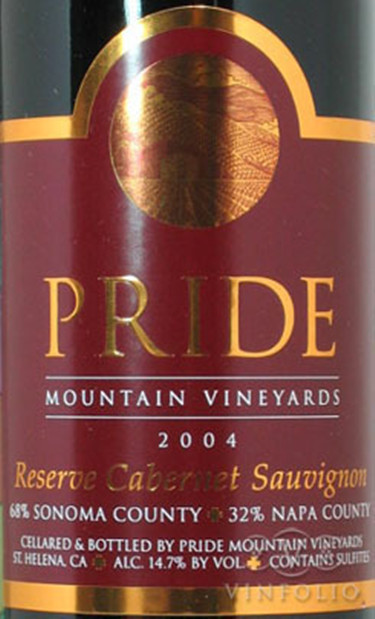 傲山珍藏赤霞珠干红Pride Mountain Vineyards Reserve Cabernet Sauvignon
