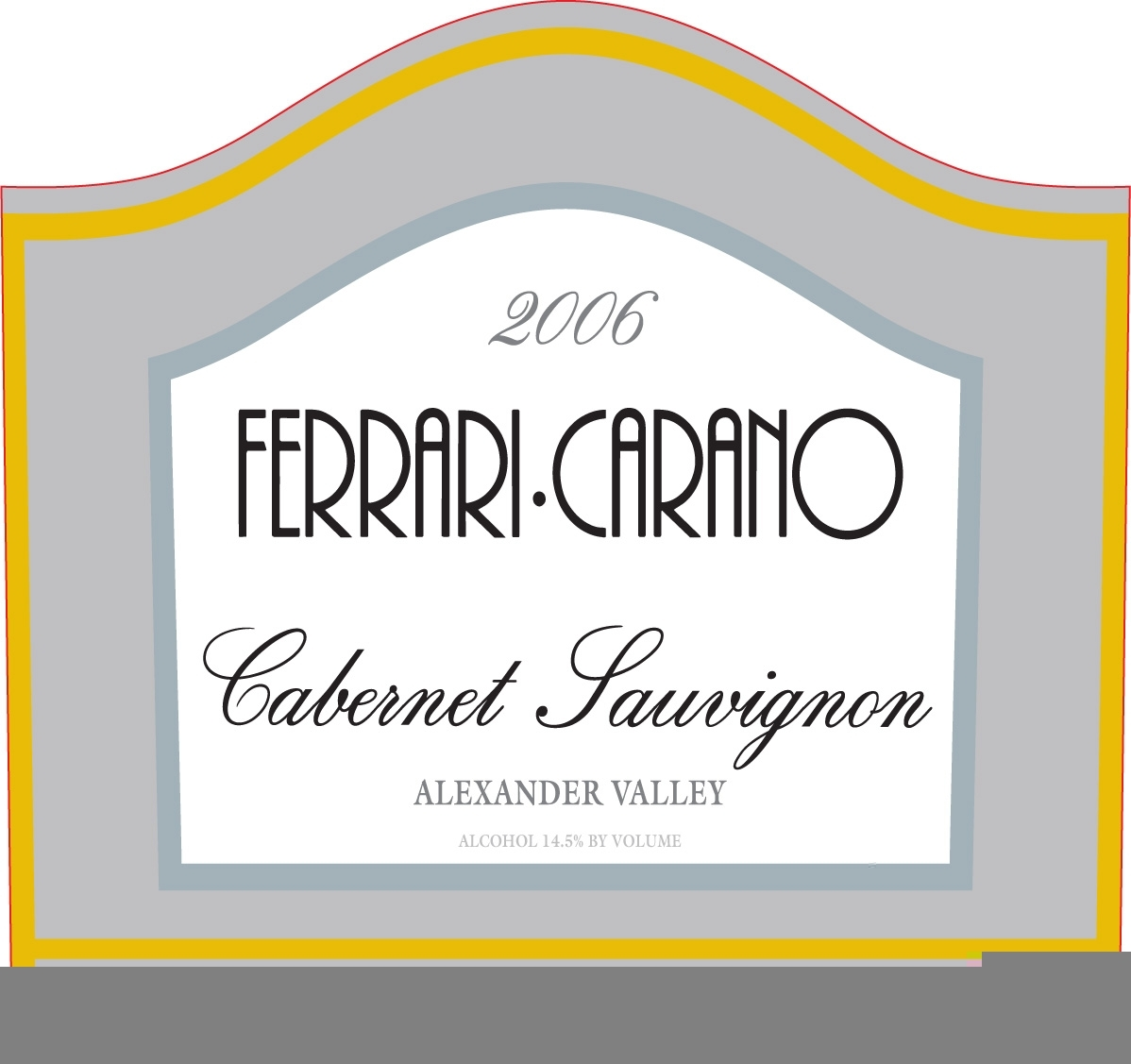 法拉利卡诺酒庄赤霞珠干红Ferrari-Carano Cabernet Sauvignon Alexander Valley