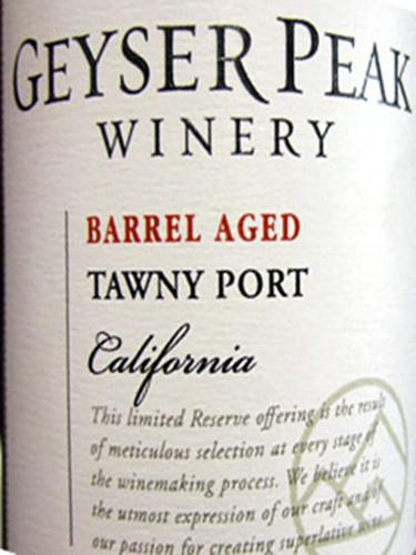 盖世峰大师精选茶色波特酒Geyser Peak Winemaker's Selection Tawny Port