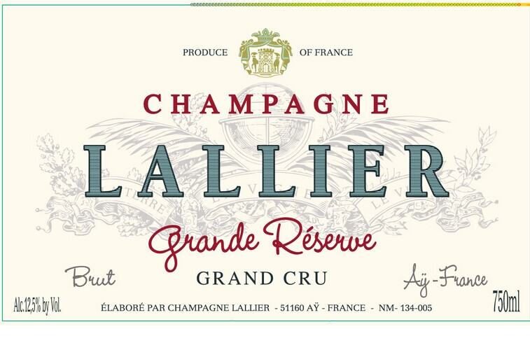 乐蕾酒庄列级园香槟Lallier Grand Cru Brut