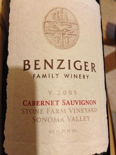 benziger stone farm vineyard cabernet sauvignon (sonoma valley)
