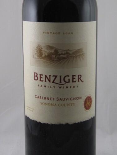 Benziger Cabernet Sauvignon Sonoma County Five Bordeaux Varietals