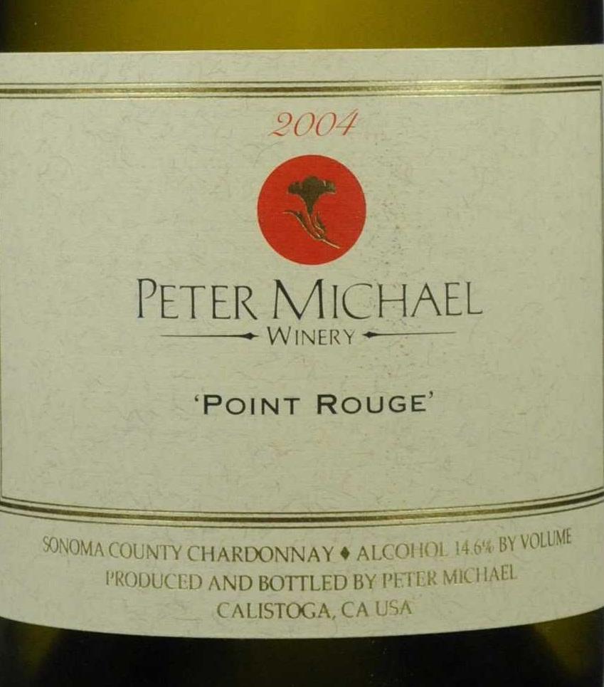 彼特麦克红点霞多丽干白Peter Michael Winery Point Rouge Chardonnay