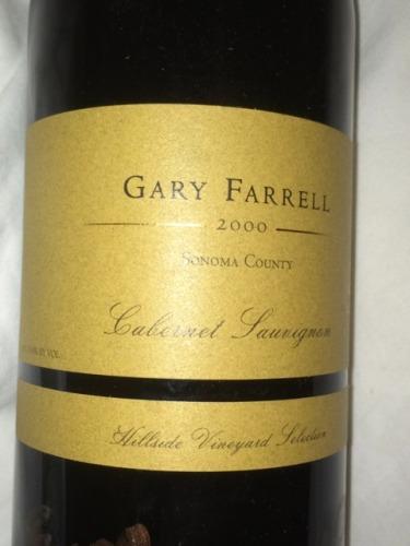 法雷尔山坡庄园赤霞珠干红Gary Farrell Hillside Vineyard Cabernet Sauvignon