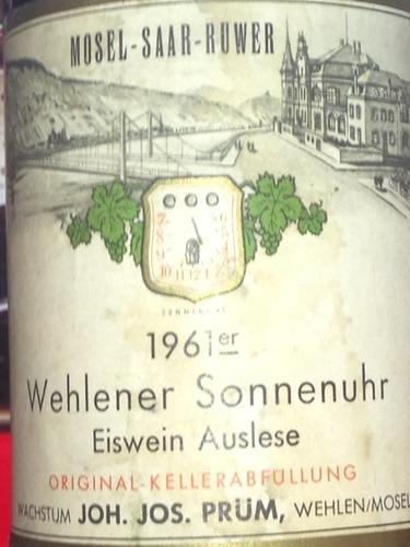 普朗温勒内日晷园雷司令冰白Joh. Jos. Prum Wehlener Sonnenuhr Riesling Eiswein