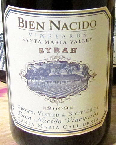 Benziger Syrah Santa Maria Valley Bien Nacido Vineyard Imagery Series