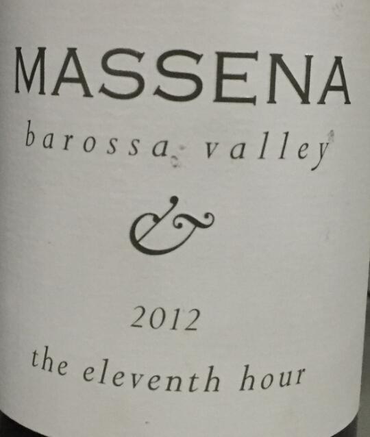 马塞纳第十一个小时西拉干红Massena The Eleventh Hour