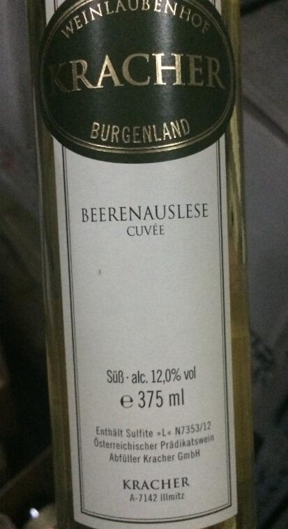 格莱士威尔殊雷司令干白Weinlaubenhof Kracher Cuvee Beerenauslese