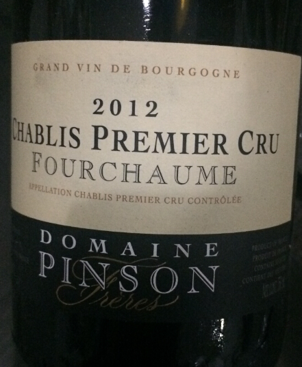 芬德夏布利一级园福寿园干白Domaine Pinson Chablis Premier Cru Fourchaume