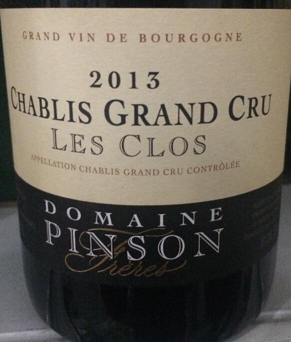 鹏逊夏布利柯洛园白葡萄酒Domaine Pinson Chablis Les Clos Grand Cru