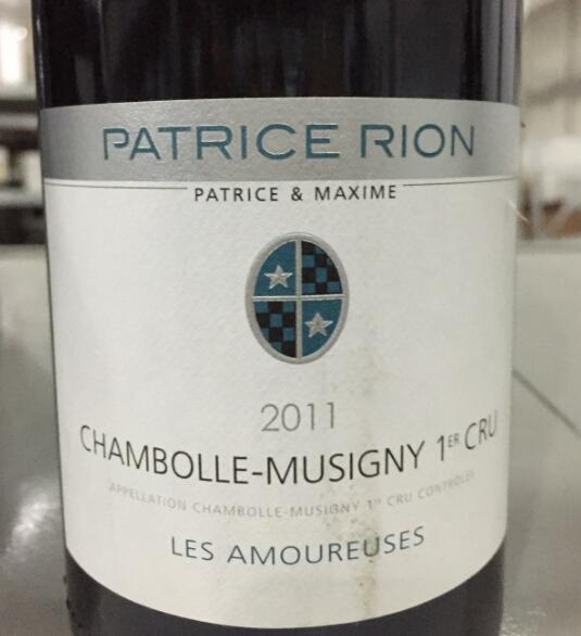 帕提斯瑞扬香波蜜思妮爱侣园干红Domaine Patrice Rion Chambolle-Musigny 1er Cru Les Amoureuses