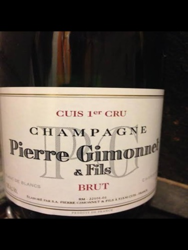 吉莫内白中白香槟Pierre Gimonnet et Fils Blanc de Blancs Cuis Premier Cru Brut Champagne
