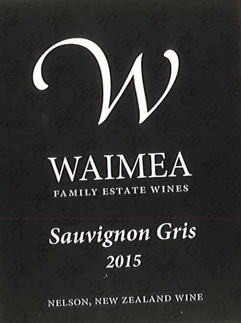 怀美长相思灰白葡萄酒Waimea Estates Sauvignon Gris