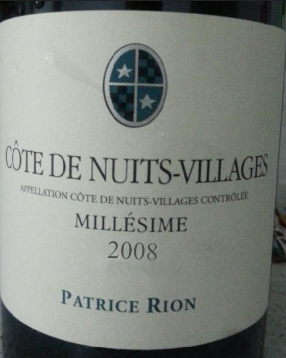 Domaine Patrice Rion Cote de Nuits Villages