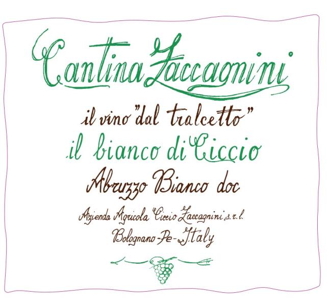 泽卡尼尼西柯白葡萄酒Cantina Zaccagnini Bianco di Ciccio Abruzzo