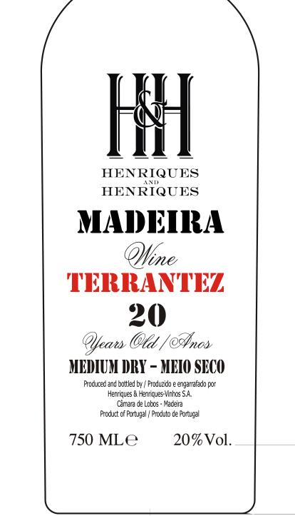 亨瑞克马德拉20年特伦太利口葡萄酒Madeira Wine Terrantez 20YO geral