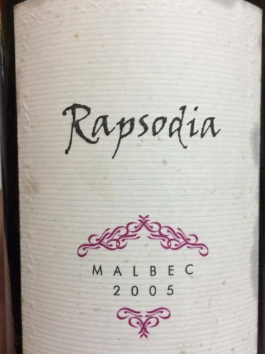 Rapsodia Malbec