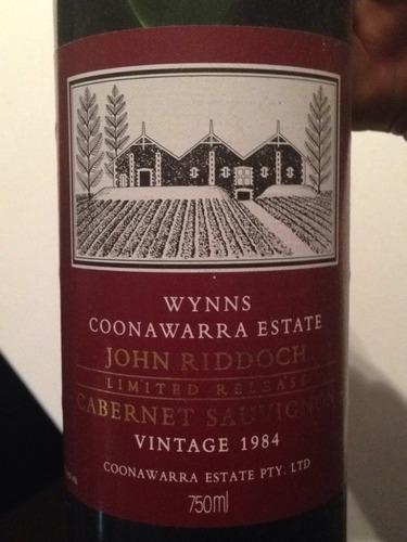 酝思库瓦拉山庄约翰路德池赤霞珠干红Wynns John Riddoch Limited Release Cabernet Sauvignon