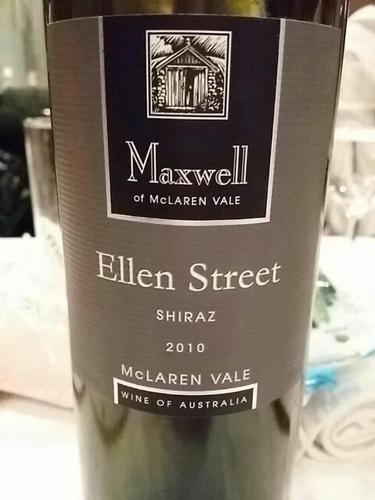 麦克斯韦依伦街设拉子干红Maxwell Wines Ellen Street Shiraz