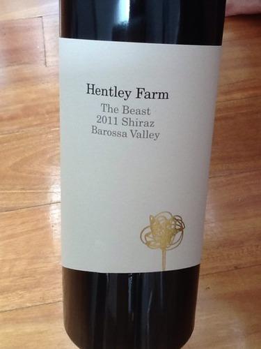 亨特利酒庄野兽设拉子红葡萄酒 Hentley Farm The Beast Barossa Valley Shiraz