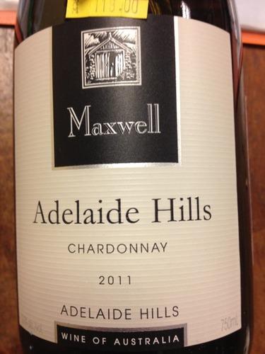 麦克斯韦霞多丽干白Maxwell Adelaide Hills Chardonnay