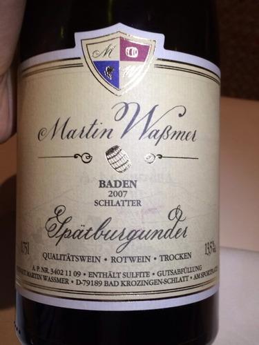 Baden Schlatter Qualitätswein Rotwein Spätburgunder Trocken