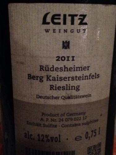 Rüdesheimer Berg Kaisersteinfels Riesling