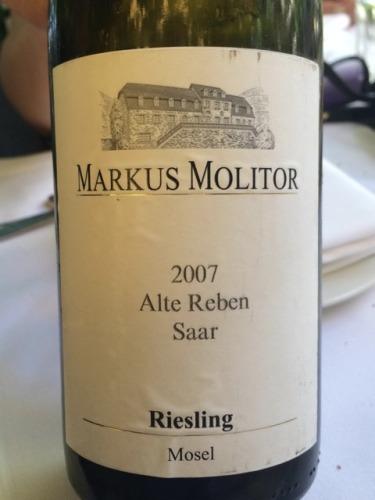 Markus Molitor Alte Reben Saar Riesling