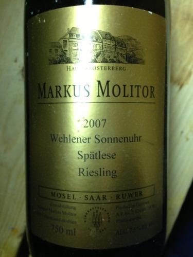 Markus Molitor Wehlener Sonnenuhr Riesling Spatlese