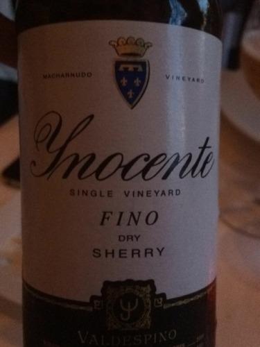Ynocente Fino Dry Sherry