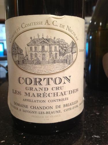 布里艾莱香桐科尔登特级园干红Domaine Chandon de Briailles Corton-Marechaudes Grand Cru