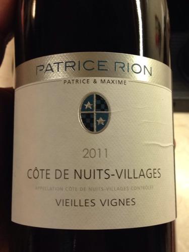 Domaine Patrice et Michele Rion Cote de Nuits-Villages