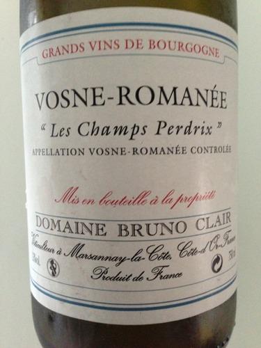 Vosne-Romanée Les Champs Perdrix Grands Vins De Bourgogne