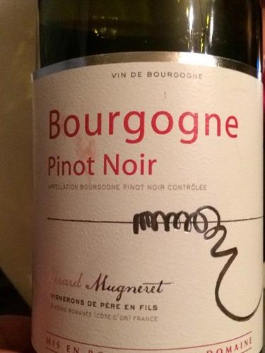 吉哈慕爱黑皮诺干红葡萄酒Gerard Mugneret Bourgogne Pinot Noir