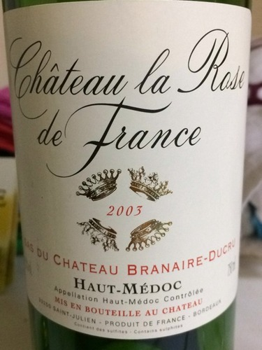班尼杜克酒庄桃红Chateau La Rose de France Branaire-Ducru