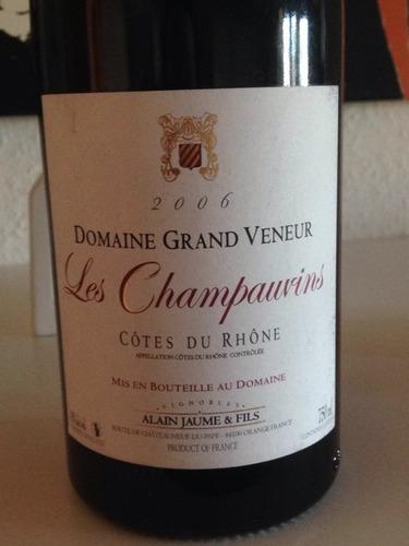 阿兰豪猎人庄罗纳河谷美酒园红葡萄酒Domaine Grand Veneur Les Champauvins Cotes du Rhone