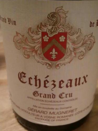 吉哈慕爱依索苏干红葡萄酒Gerard Mugneret Echézeaux Grand Cru