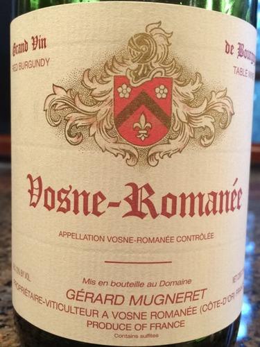 吉哈慕爱沃恩罗曼尼干红Domaine Gerard Mugneret Vosne-Romanee
