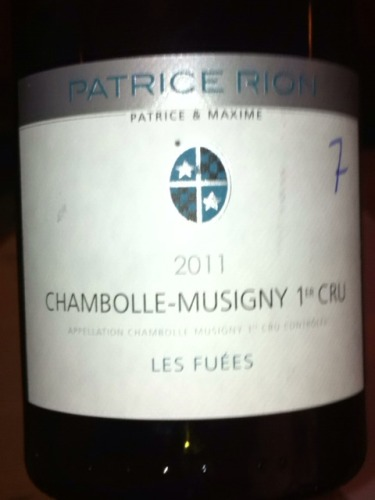 Patrice Rion Chambolle-Musigny Les Fuees