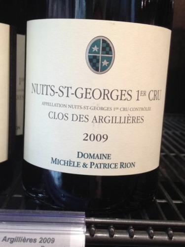 Domaine Patrice Rion Clos des Argillieres Nuits-Saint-Georges Premier Cru