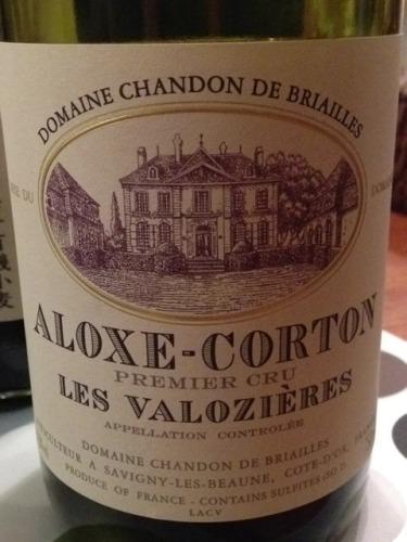 Les Valozières Aloxe-Corton Premier Cru