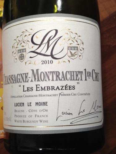 Les Embrazees Chassagne-Montrachet 1er Cru